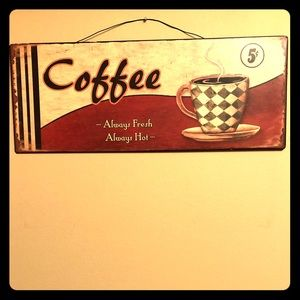 Other - 2/$20! Metal retro-looking coffee sign